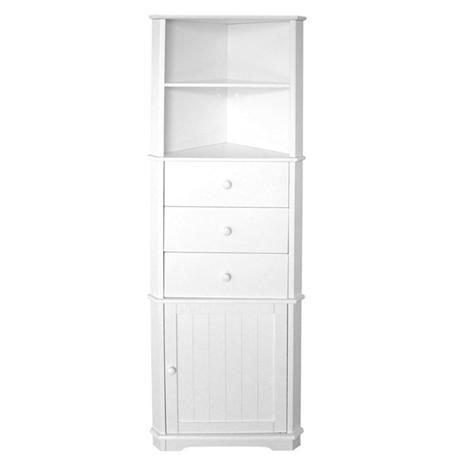 white shelf cupboard and drawer corner unit 241563l at. Black Bedroom Furniture Sets. Home Design Ideas