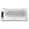 Roca BeCool 1800 x 800mm Rectangular Acrylic Bath with Grips profile small image view 1