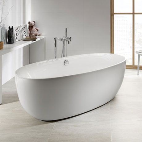 Roca Virginia Acrylic Freestanding Bath with Waste & Overflow (1700 x 800mm)