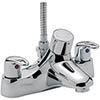 Tre Mercati - Latina Thermostatic Deck Bath/Shower Mixer - 25057 profile small image view 1