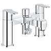 Grohe BauEdge Bath Shower Mixer - 25217000 profile small image view 1