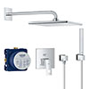Grohe Eurocube Perfect Shower Set with Rainshower Mono 310 Cube - 25238000 profile small image view 1