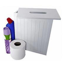 Lloyd Pascal - White MDF Shaker Style Storage Unit w/ Removable Lid - 255.96.796 Medium Image