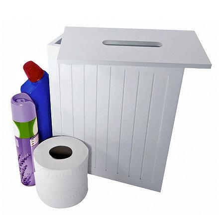 Lloyd Pascal - White MDF Shaker Style Storage Unit w/ Removable Lid - 255.96.796 Large Image