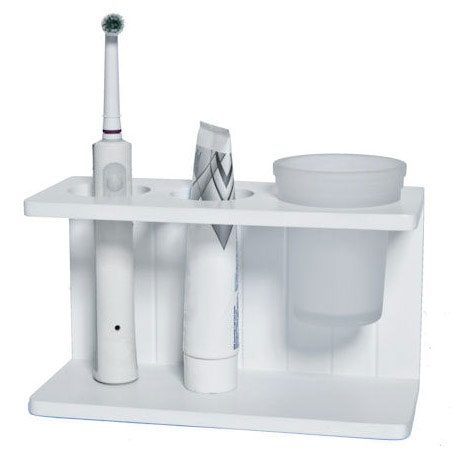 Lloyd Pascal - White MDF Shaker Style Electric Toothbrush Stand - 255.96.798 Large Image