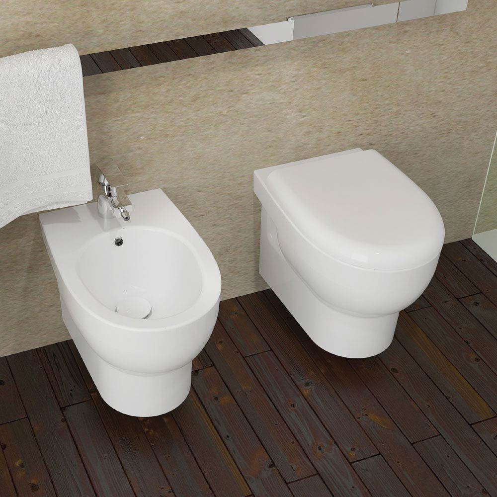 Isvea Bplus Rimless Wall Hung WC Pan  Standard Large Image