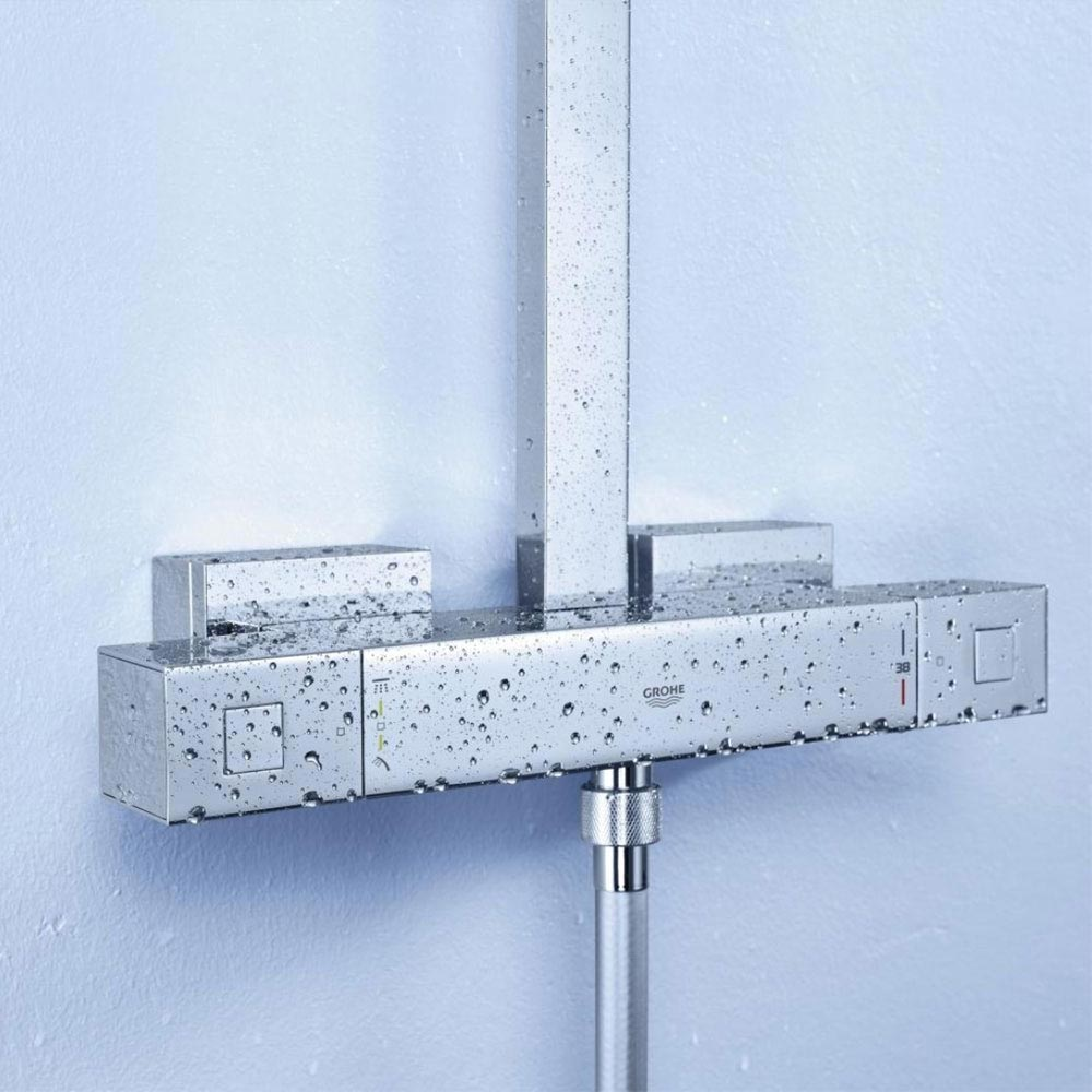 Grohe Euphoria Cube XXL System 230 Thermostatic Shower System - 26087000 profile large image view 3