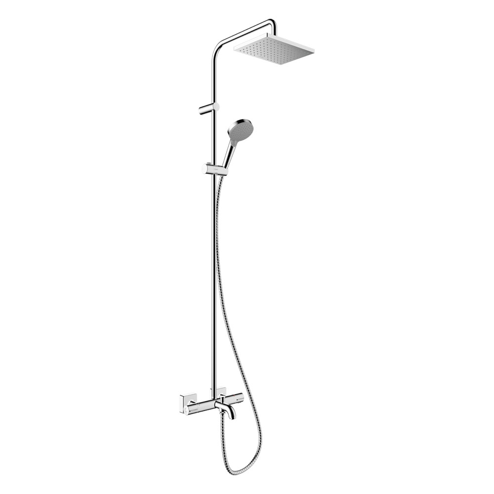 hansgrohe Vernis Shape Showerpipe 230 Thermostatic Bath Shower Mixer - 26284000