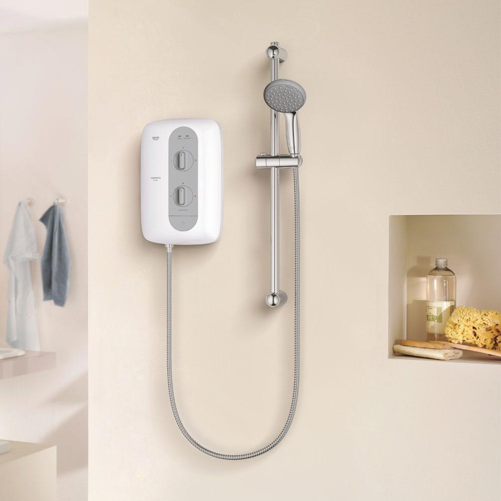 Grohe New Tempesta 100 Pressure Stabilized Electric Shower in Nighttime Grey - 26178000