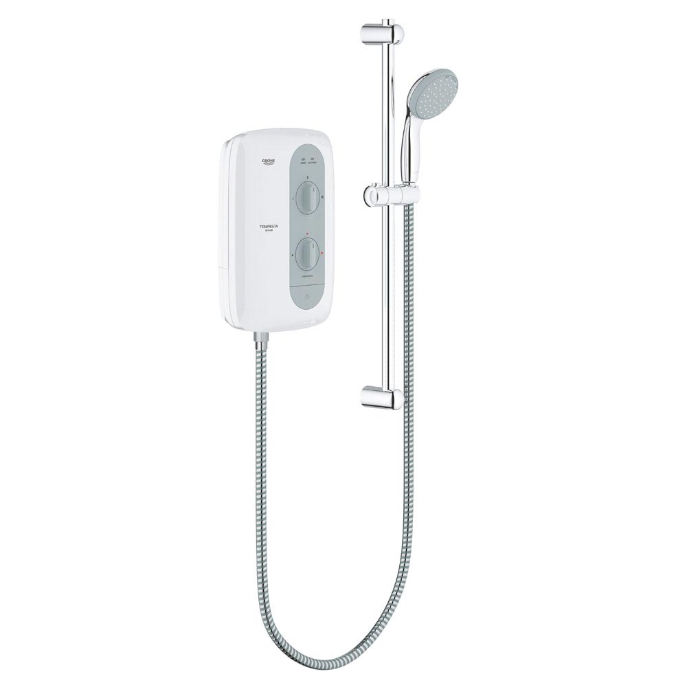 Grohe New Tempesta 100 Pressure Stabilized Electric Shower - Nightime Grey Large Image