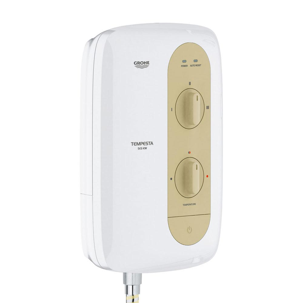 Grohe New Tempesta 100 9.5kW Pressure Stabilized Electric Shower - Natural Sandstone - 26222000  Pro