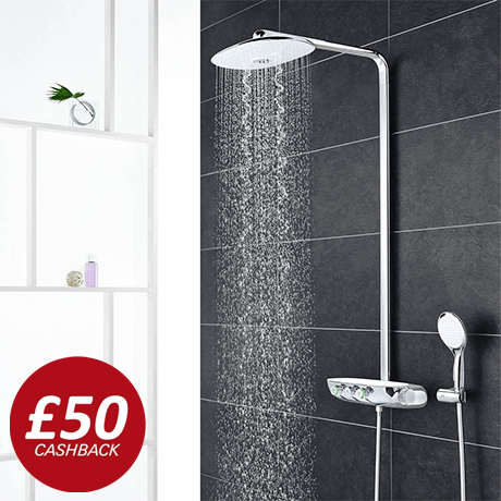 Grohe Rainshower SmartControl 360 DUO Shower System - Moon White - 26250LS0