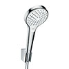 hansgrohe Croma Select S Vario 3 Spray Handshower with Holder & 1250mm Hose - 26421400 profile small image view 1
