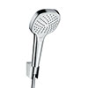 hansgrohe Croma Select E Vario 3 Spray Handshower with Holder & 1600mm Hose - 26413400 profile small image view 1