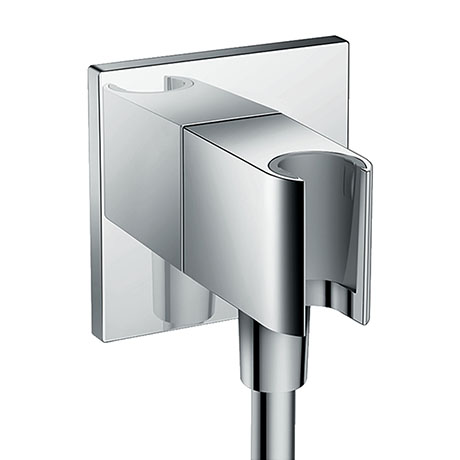 hansgrohe FixFit Square Wall Outlet with Shower Holder - 26486000