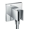 hansgrohe FixFit Square Wall Outlet with Shower Holder - 26486000 profile small image view 1