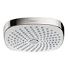hansgrohe Croma Select E 180 2 Spray Shower Head - White/Chrome - 26524400 profile small image view 1