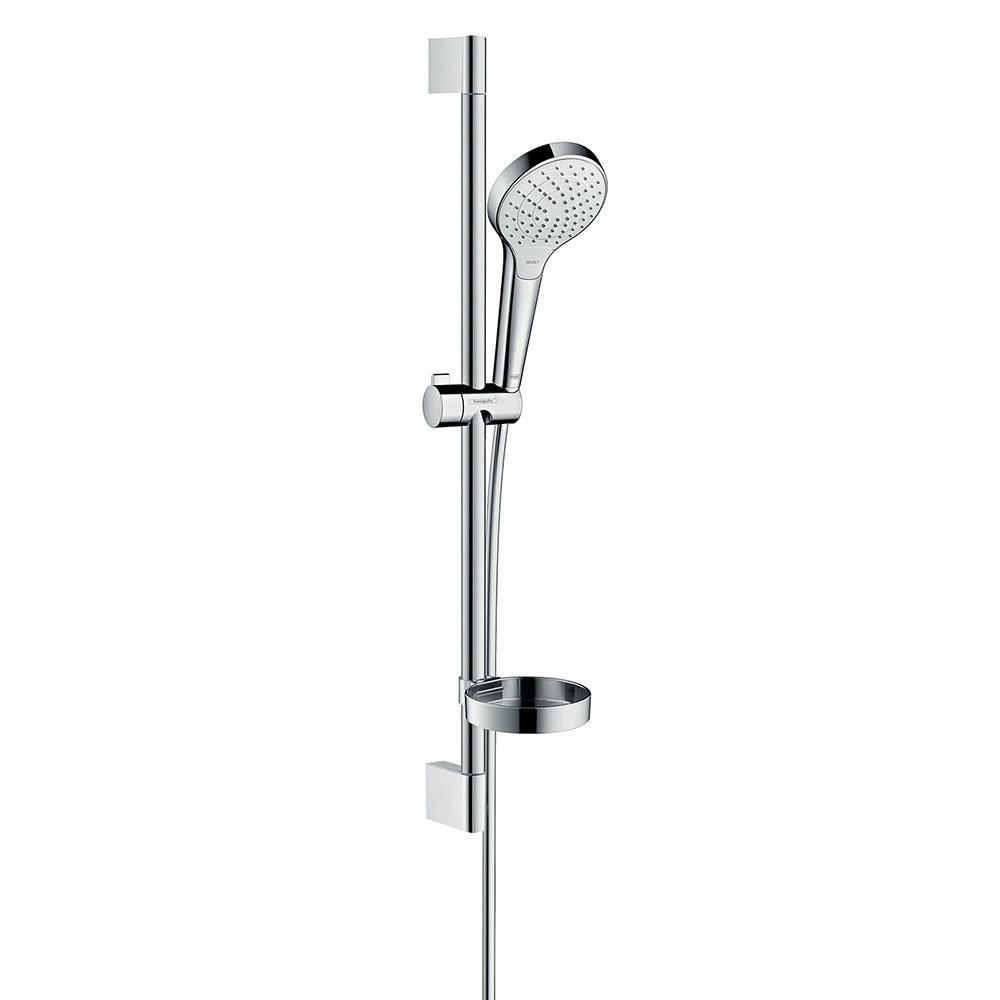 hansgrohe Croma Select S Vario 3 Spray 65cm Shower Slider Rail Kit with Soap Dish - 26566400