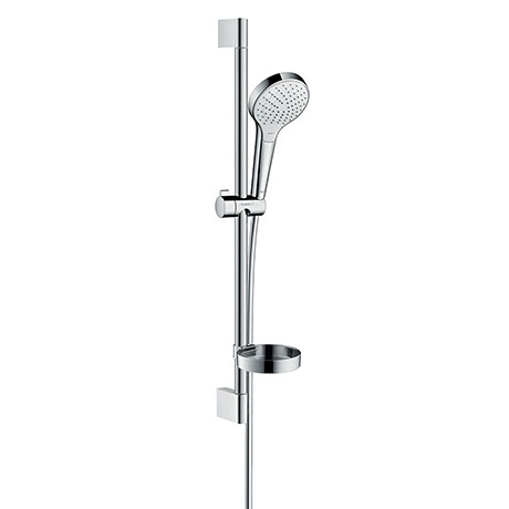 hansgrohe Croma Select S Vario 3 Spray 65cm Shower Slider Rail Kit with Soap Dish - 26566400