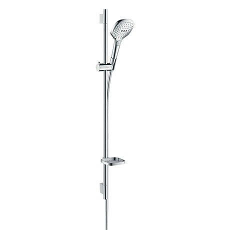 hansgrohe Raindance Select E 120 3-Spray 90cm Shower Slider Rail Kit with Soap Dish - 26621000