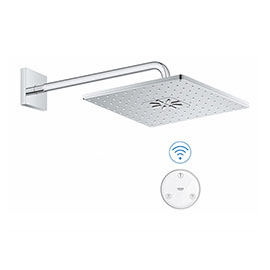 Grohe Rainshower SmartConnect 310 Cube Shower Head & Arm with Wireless Remote - 26642000