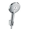 hansgrohe Raindance Select S 120 3-Spray Hand Shower with Holder & 1.25m Hose - Chrome - 26701000 profile small image view 1