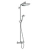 hansgrohe Croma Select S Showerpipe 280 Thermostatic Bath Shower Mixer - 26792000 profile small image view 1