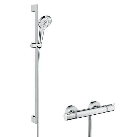 Hansgrohe Croma Select S Vario Thermostatic Shower System with 90cm Shower Slider Rail Kit - 2701440