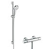 hansgrohe Croma Select S Vario Thermostatic Shower System with 90cm Shower Slider Rail Kit - 27014400 profile small image view 1