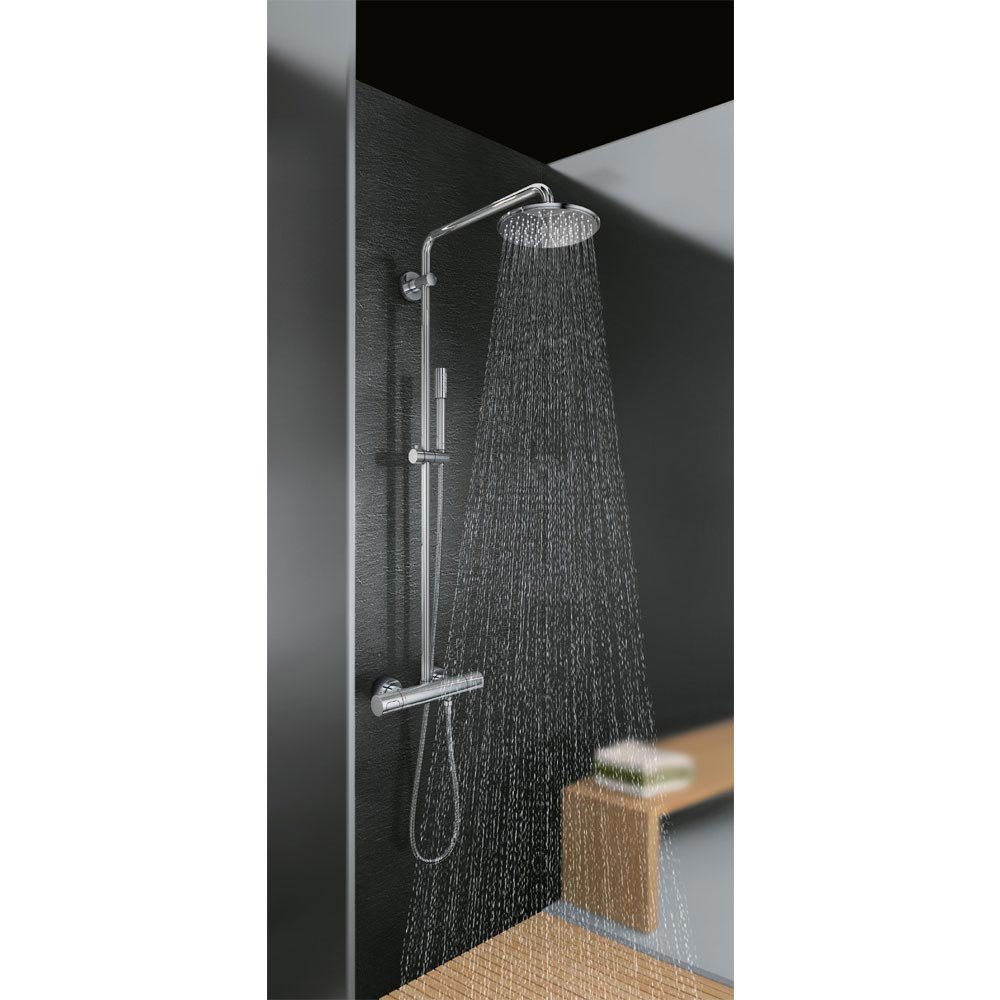 Grohe Rainshower System 210 Thermostatic Shower System - 27032001  Profile Large Image