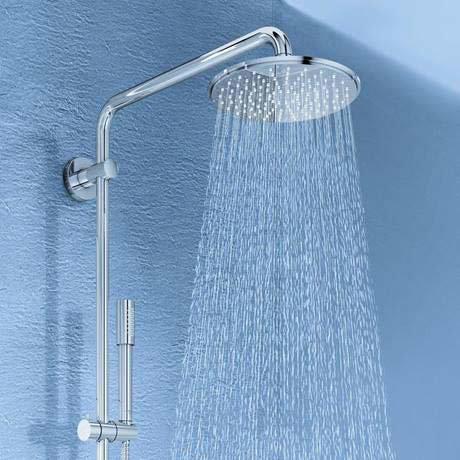 grohe rainshower system 210 thermostatic shower system 27032001. Black Bedroom Furniture Sets. Home Design Ideas