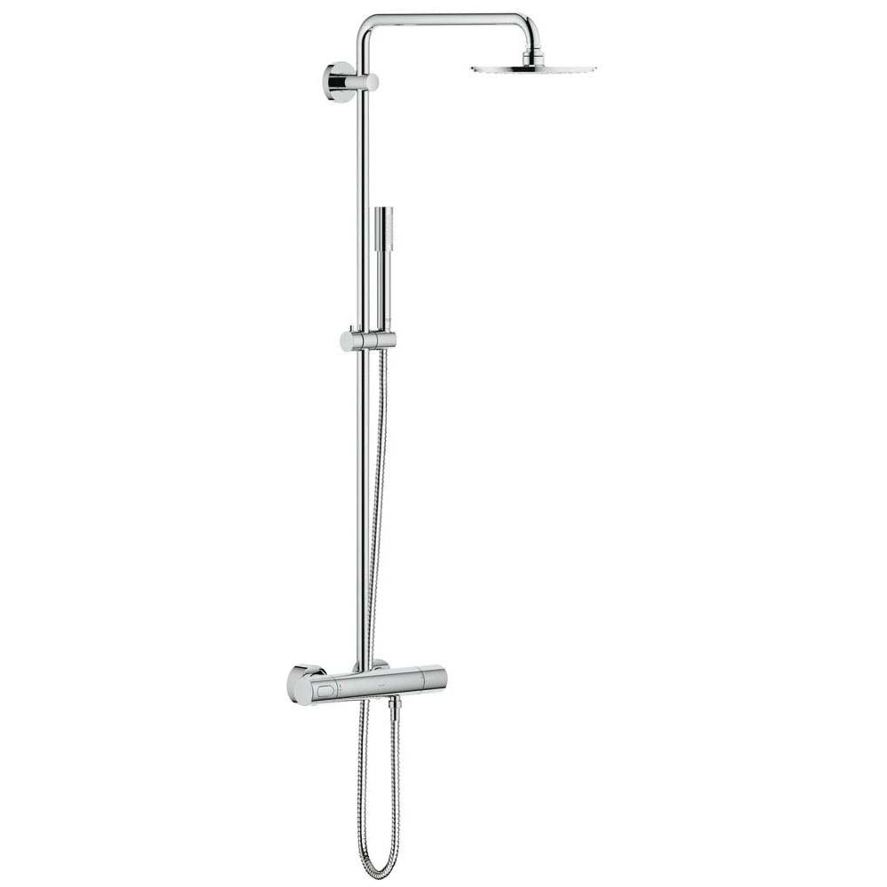 grohe rainshower system 210 thermostatic shower system 27032001. Black Bedroom Furniture Sets. Home Design Ideas