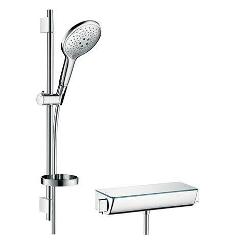 hansgrohe Raindance Select S 150 with Ecostat Select Thermostatic Shower Mixer - Chrome - 27036000