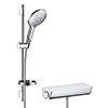 hansgrohe Raindance Select S 150 with Ecostat Select Thermostatic Shower Mixer - White/Chrome - 27036400 profile small image view 1