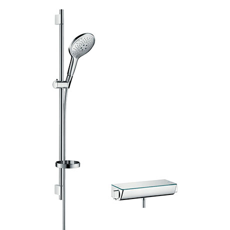 hansgrohe Raindance Select S 150 with Ecostat Select Thermostatic Shower Mixer - Chrome - 27037000
