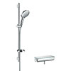 hansgrohe Raindance Select S 150 with Ecostat Select Thermostatic Shower Mixer - Chrome - 27037000 profile small image view 1