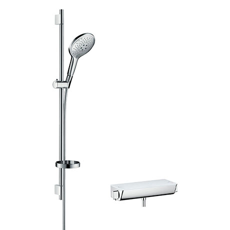 hansgrohe Raindance Select S 150 with Ecostat Select Thermostatic Shower Mixer - White/Chrome - 2703