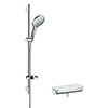 hansgrohe Raindance Select S 150 with Ecostat Select Thermostatic Shower Mixer - White/Chrome - 27037400 profile small image view 1