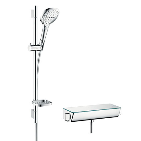 hansgrohe Raindance Select E 120 with Ecostat Select Thermostatic Shower Mixer - Chrome - 27038000