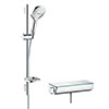 hansgrohe Raindance Select E 120 with Ecostat Select Thermostatic Shower Mixer - Chrome - 27038000 profile small image view 1