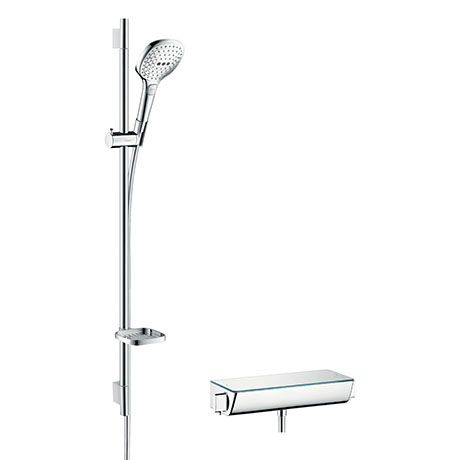 hansgrohe Raindance Select E 120 with Ecostat Select Thermostatic Shower Mixer - Chrome - 27039000