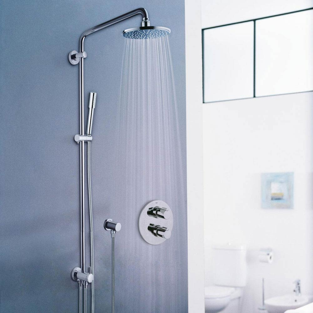 Grohe Rainshower Shower System with Diverter - 27058000 profile large image view 2