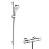hansgrohe Croma Select E Vario Thermostatic Shower System with 90cm Shower Slider Rail Kit - 27082400 profile small image view 1