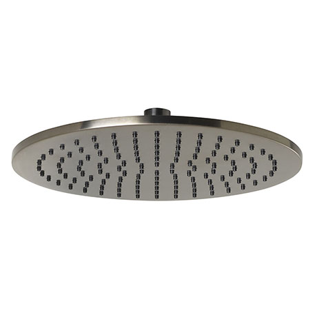 JTP Vos Brushed Black 250mm Round Shower Head