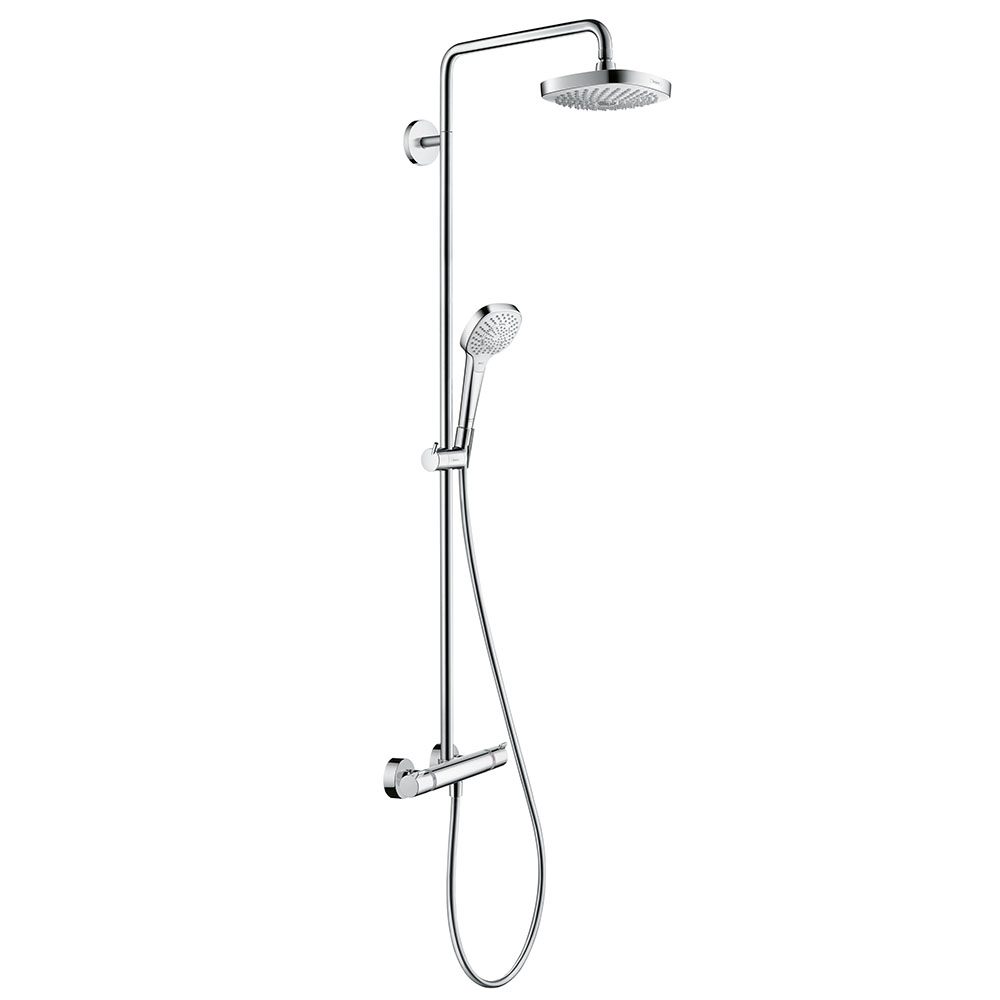 hansgrohe Croma Select E Showerpipe 180 Thermostatic Shower Mixer - 27256400