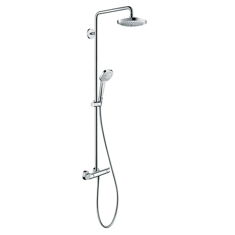 hansgrohe Croma Select E EcoSmart Showerpipe 180 Thermostatic Shower Mixer - 27257400