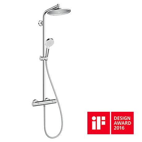 Hansgrohe Crometta S Showerpipe 240 Thermostatic Shower Mixer - 27267000