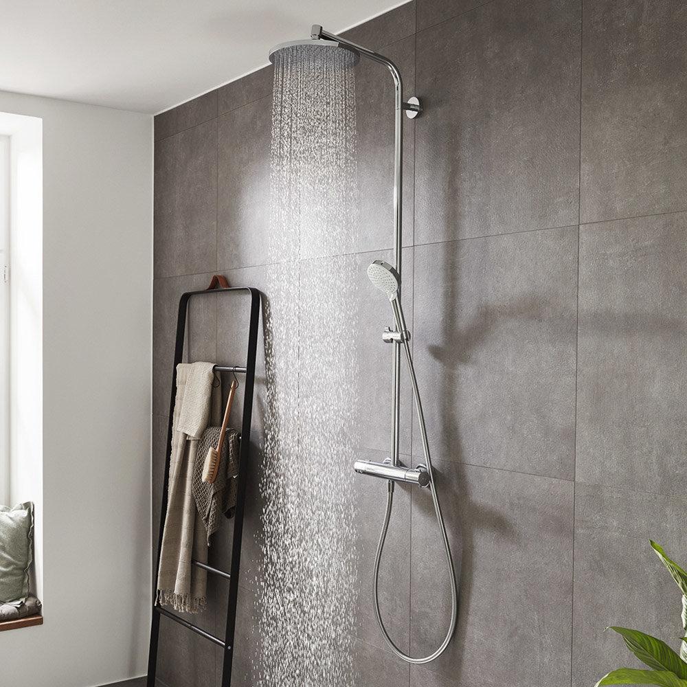 hansgrohe Crometta S Showerpipe 240 Thermostatic Shower Mixer - 27267000