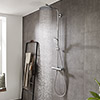 hansgrohe Crometta S Showerpipe 240 Thermostatic Shower Mixer - 27267000 profile small image view 1