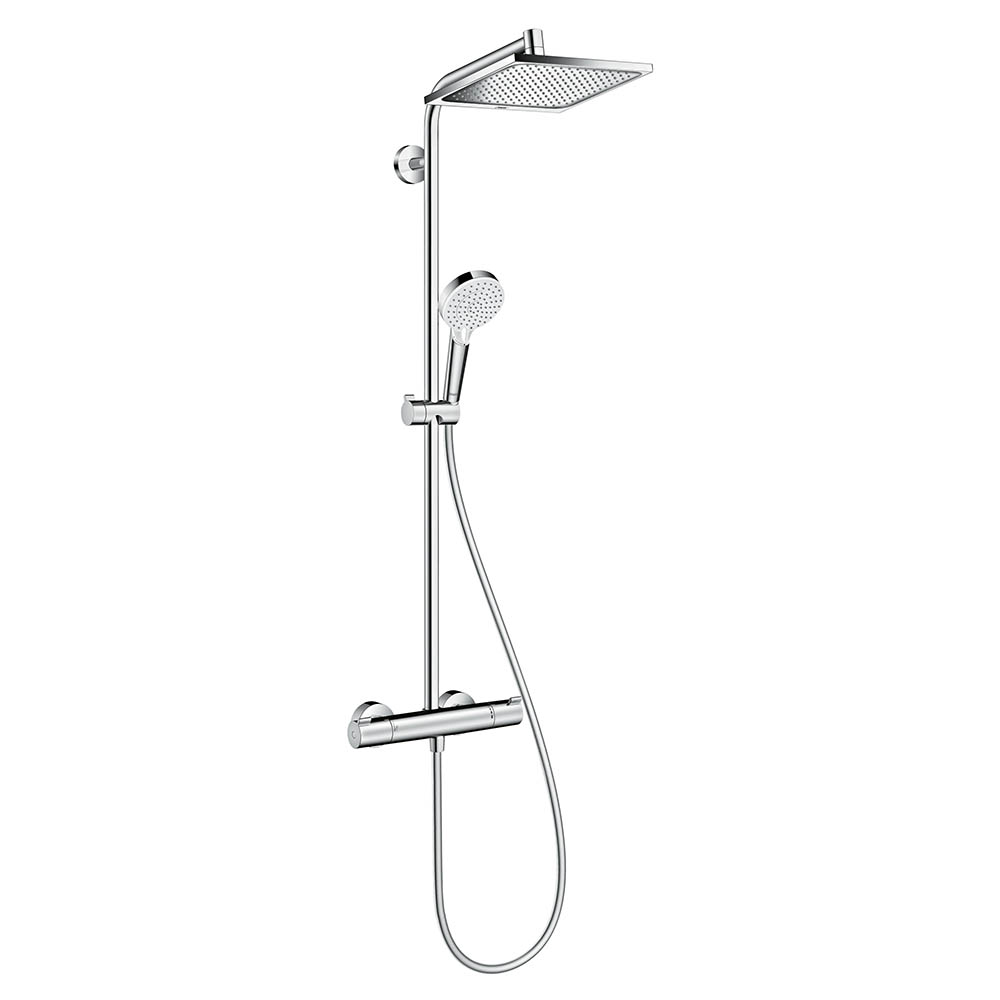hansgrohe Crometta E Showerpipe 240 Thermostatic Shower System